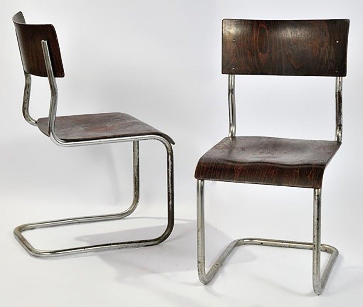 mart stam chair shaw walker 2 x dinner 1930s 68585