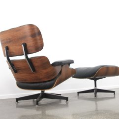 Eames Style Lounge Chair And Ottoman Rosewood Black Leather Double Hanging Egg Australia 43 In