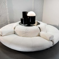 Leather Round Sofa Corner Under 1000 White 4 Elements Sectional Italian Lounge