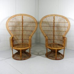 Rattan Peacock Chair Sitting On A Balance Ball Instead Of Chairs 75146
