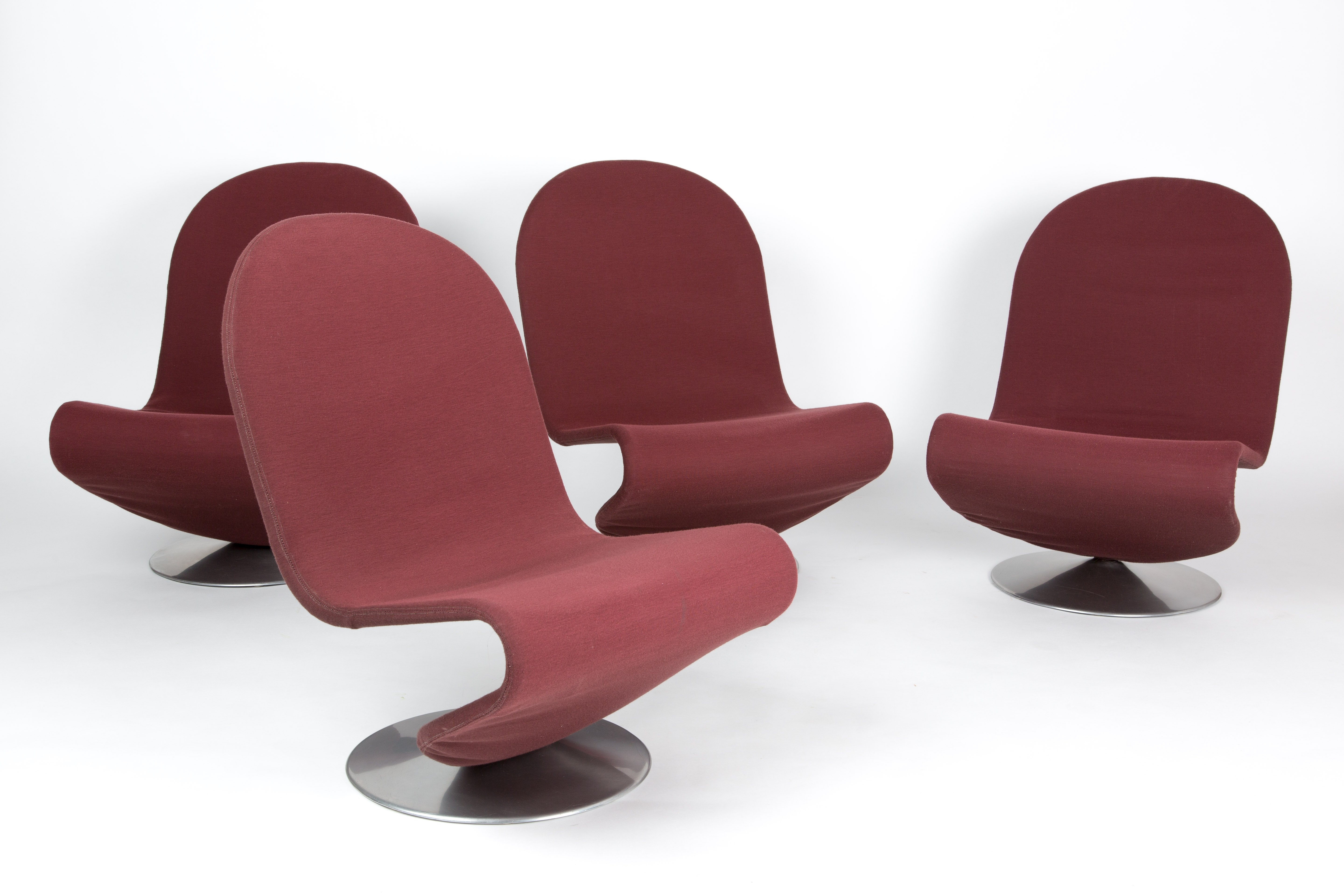 vernon panton chair top rated executive office chairs a set of verner 123 serie lounge for fritz hansen 77360