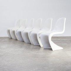 Panton S Chair Linen Parson Slipcovers 6 X Verner By Fehlbaum For Herman Miller 78499