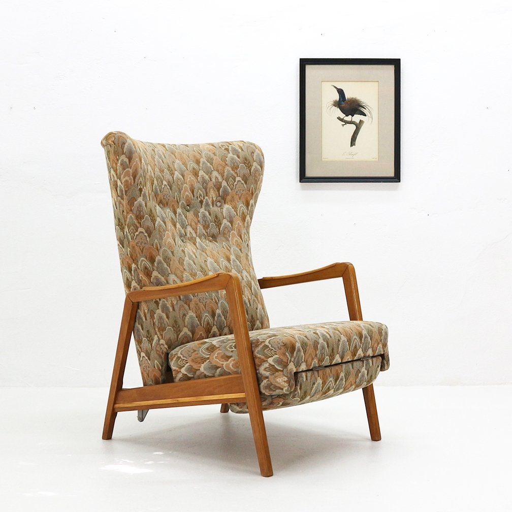 Wingback Recliner Chair 1950s Wingback Chair With Reclining Feature