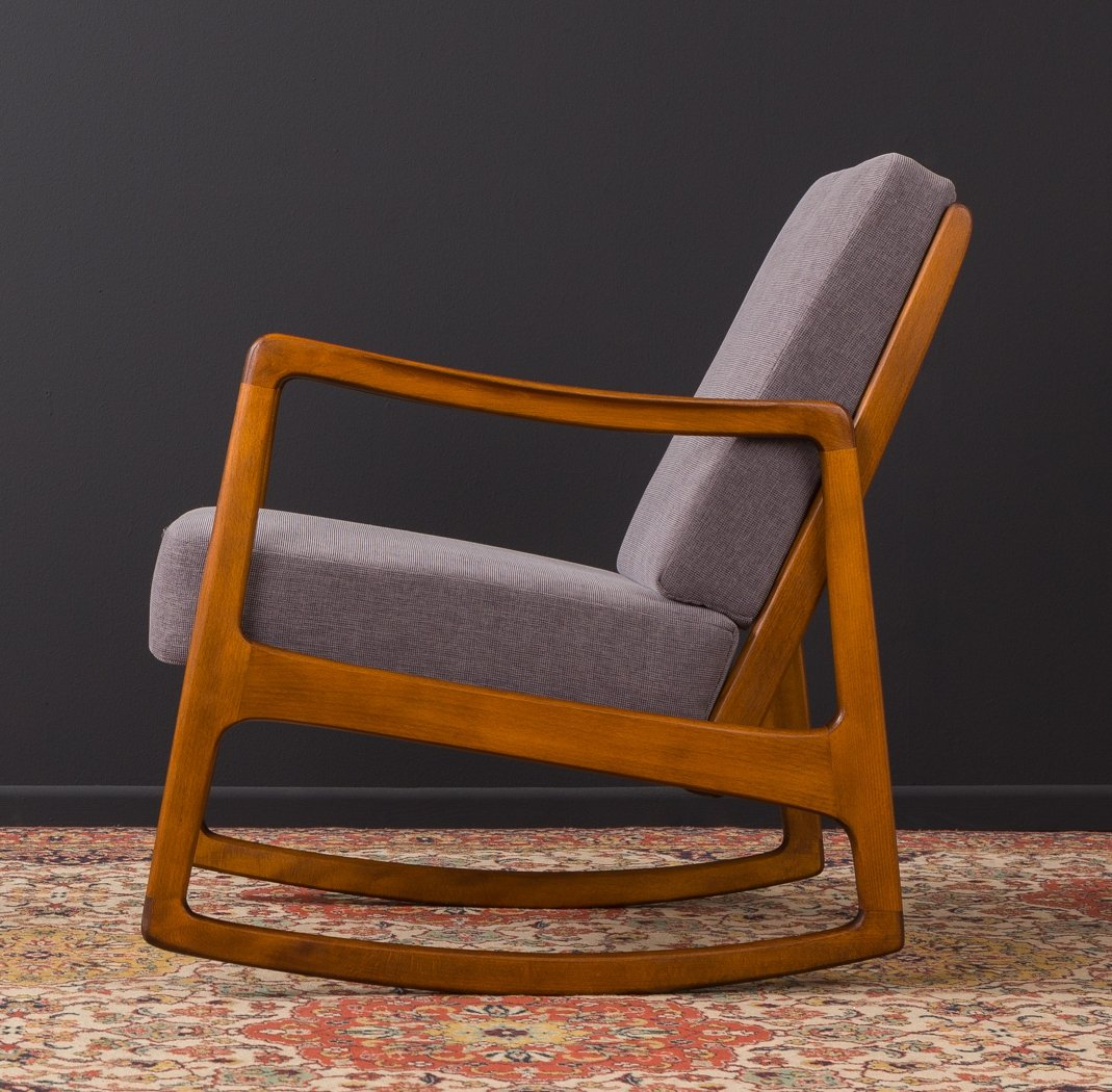 Danish rocking chair by Ole Wanscher for France