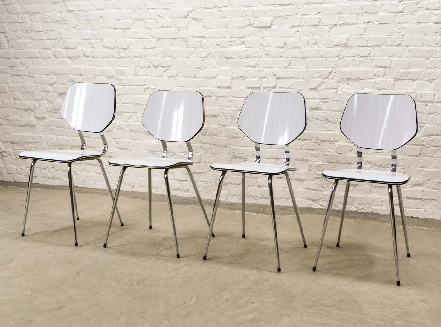 Set Of 4 Kitchen Chairs Set Of Four Vintage Design White High Quality Brabantia