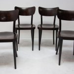 Mid Century Dining Chairs For Ton Czechoslovakia 1960s 91813