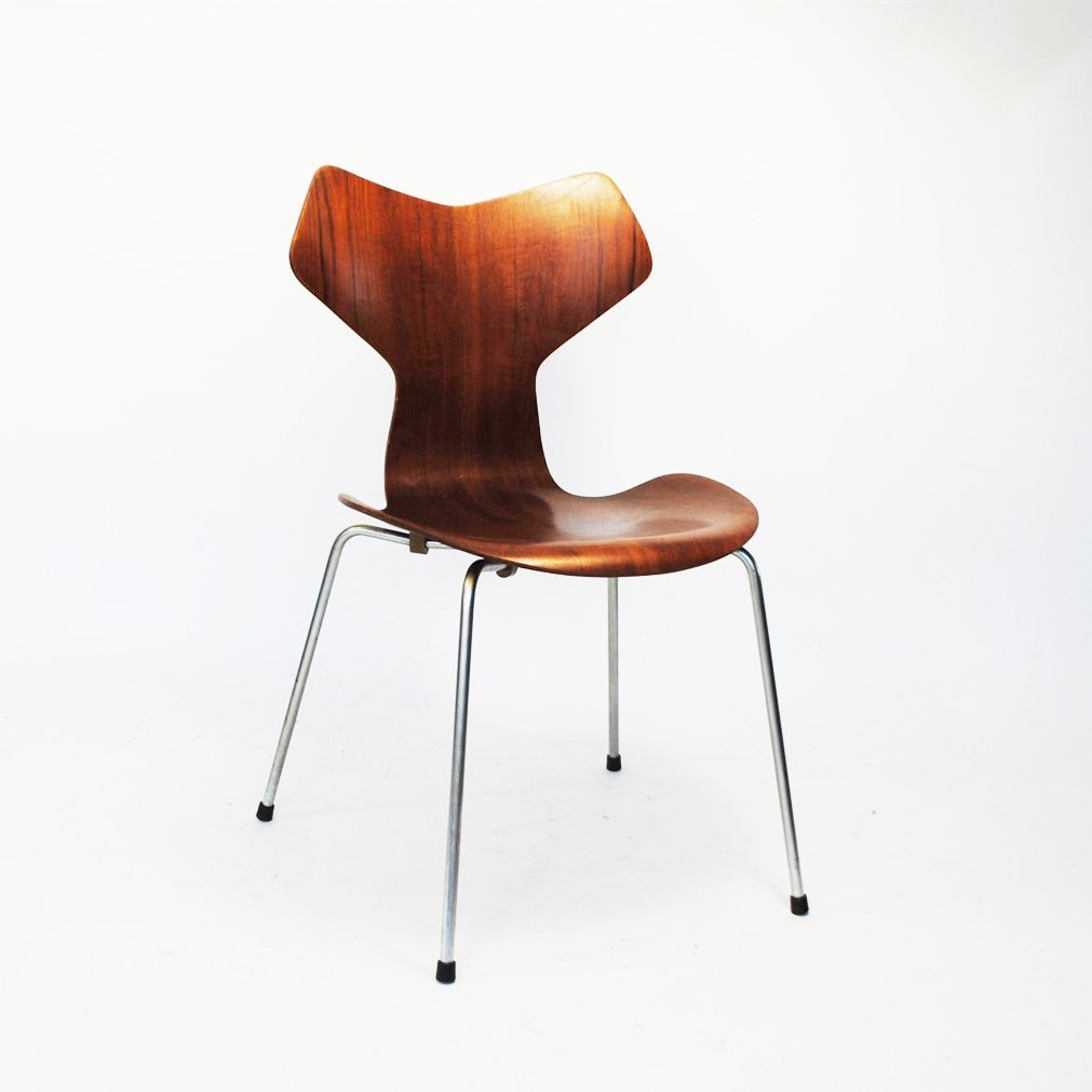 Fritz Hansen Chairs Grand Prix Dining Chair By Arne Jacobsen For Fritz Hansen 1950s