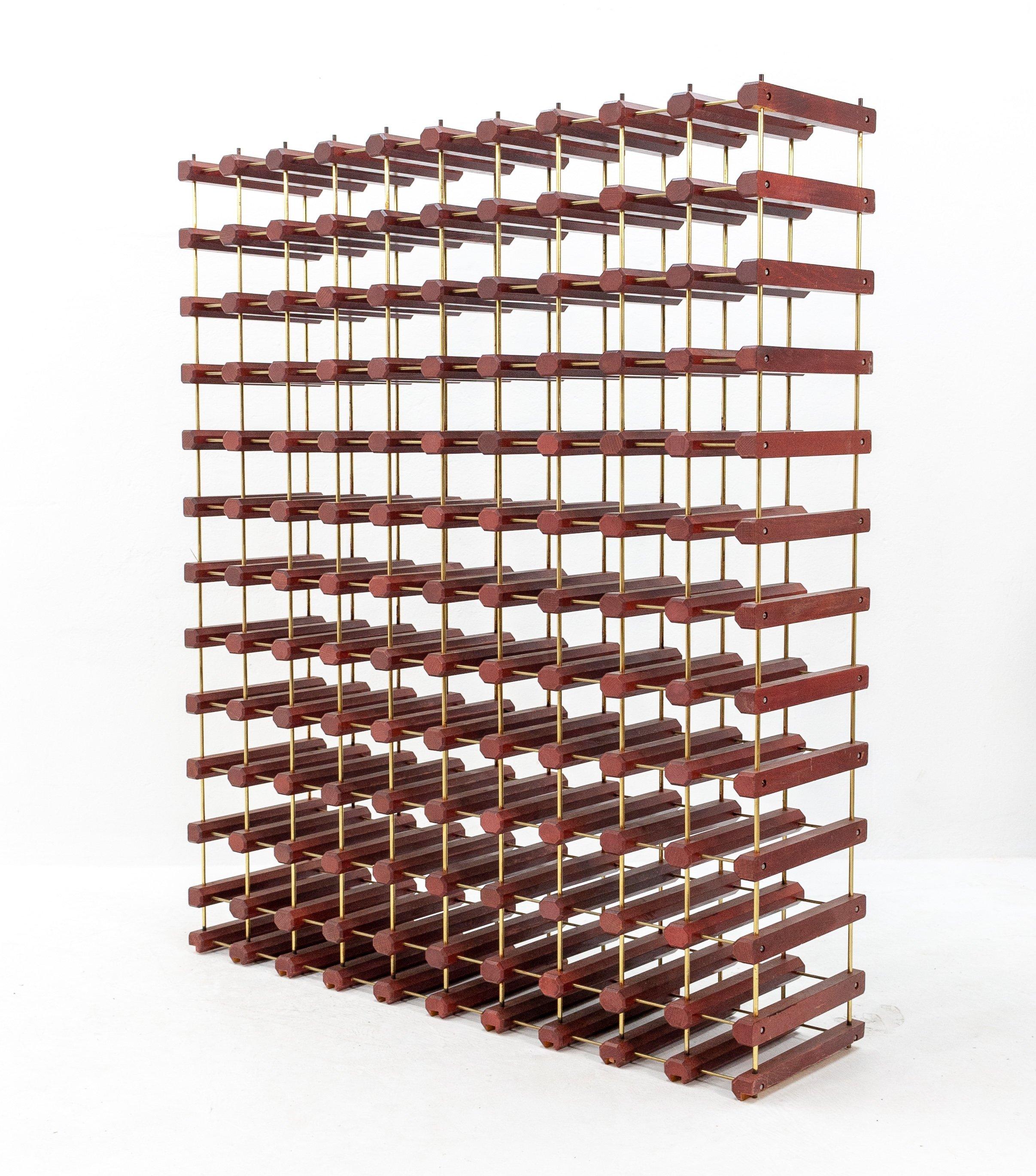 large wine rack for 110 bottles 1980s