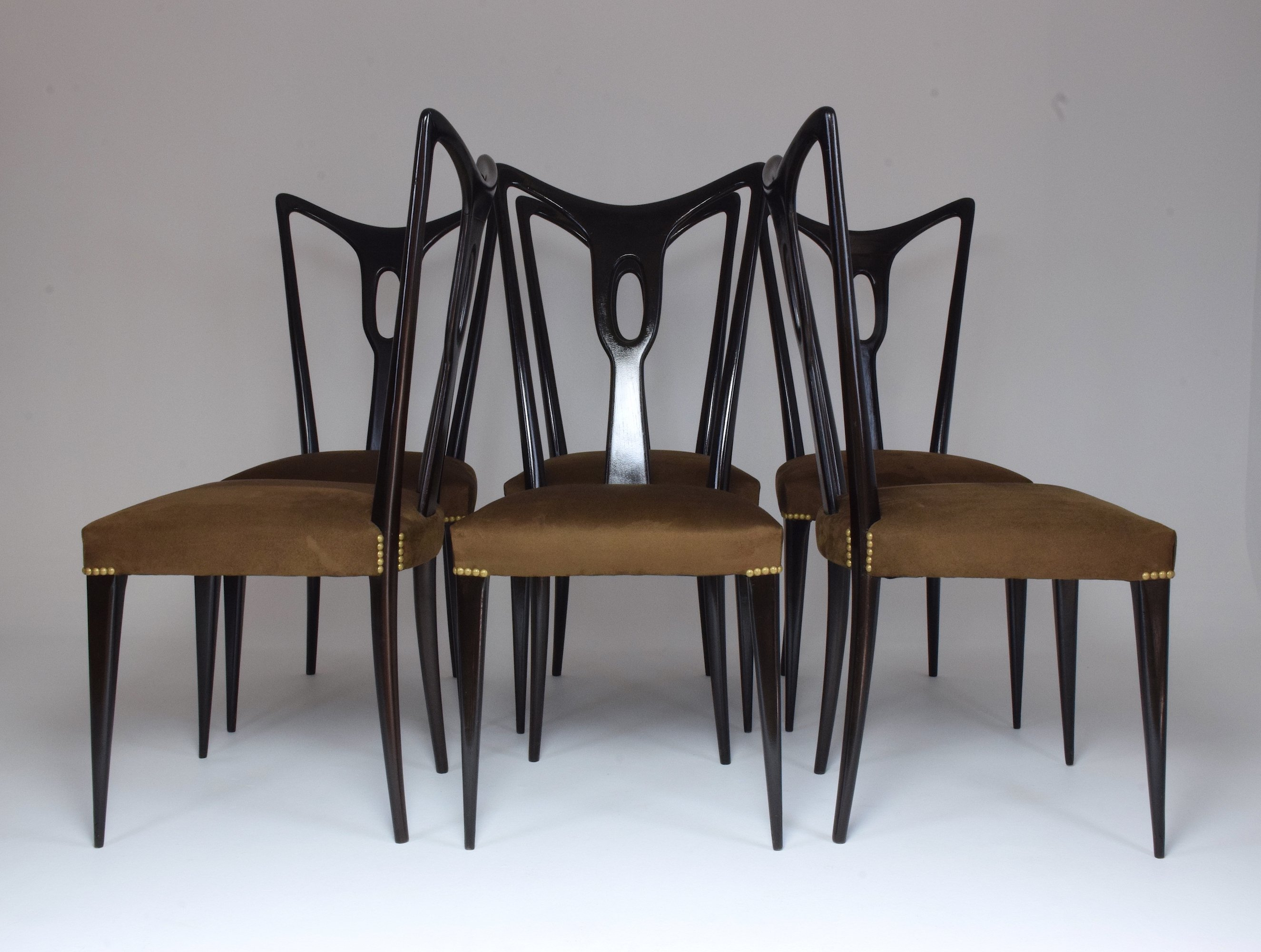 Dining Chair Set Of 6 Set Of 6 Italian Vintage Dining Chairs 1940 S