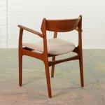 Mid Century Scandinavian Design Teak Desk Armchair By Erik Buch For Oddense 64911