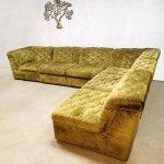 Vintage Green Velvet Modular Sofa By Laauser 1960s 109865