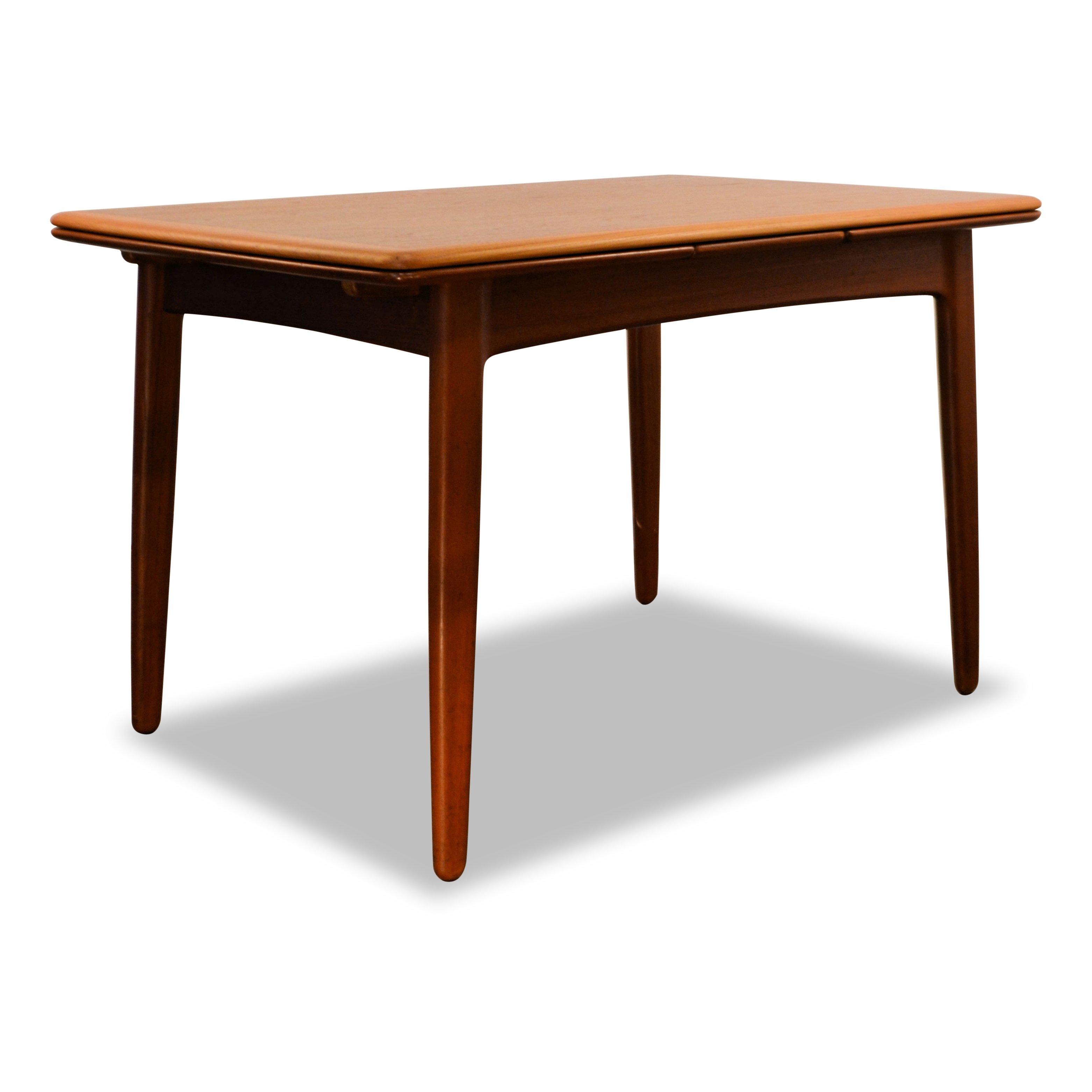 Vintage Svend Aage Madsen Teak Extendable Dining Table Small Version 117638