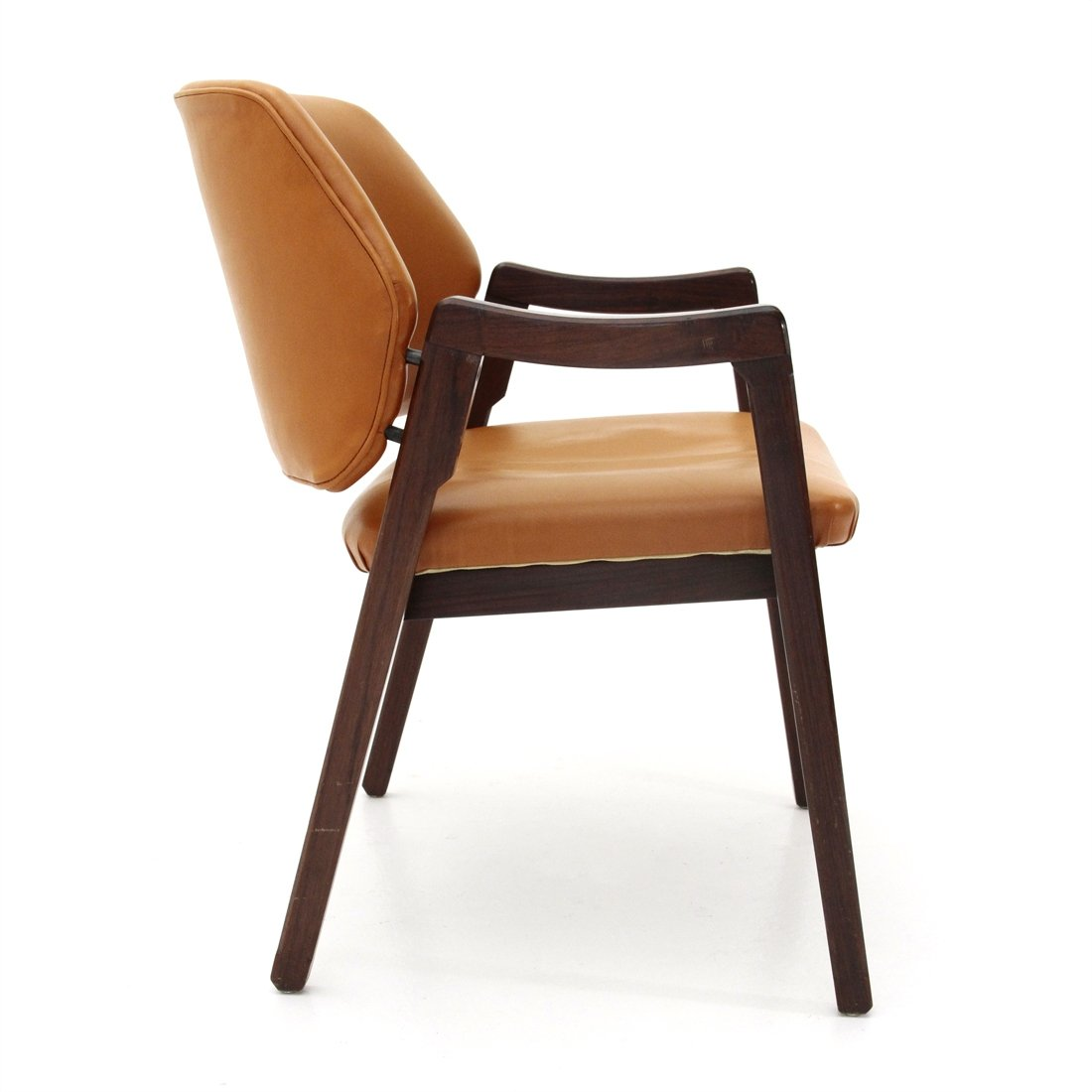 Midcentury Brown Leather Chair By Ico Parisi For Cassina 1960 S 118297