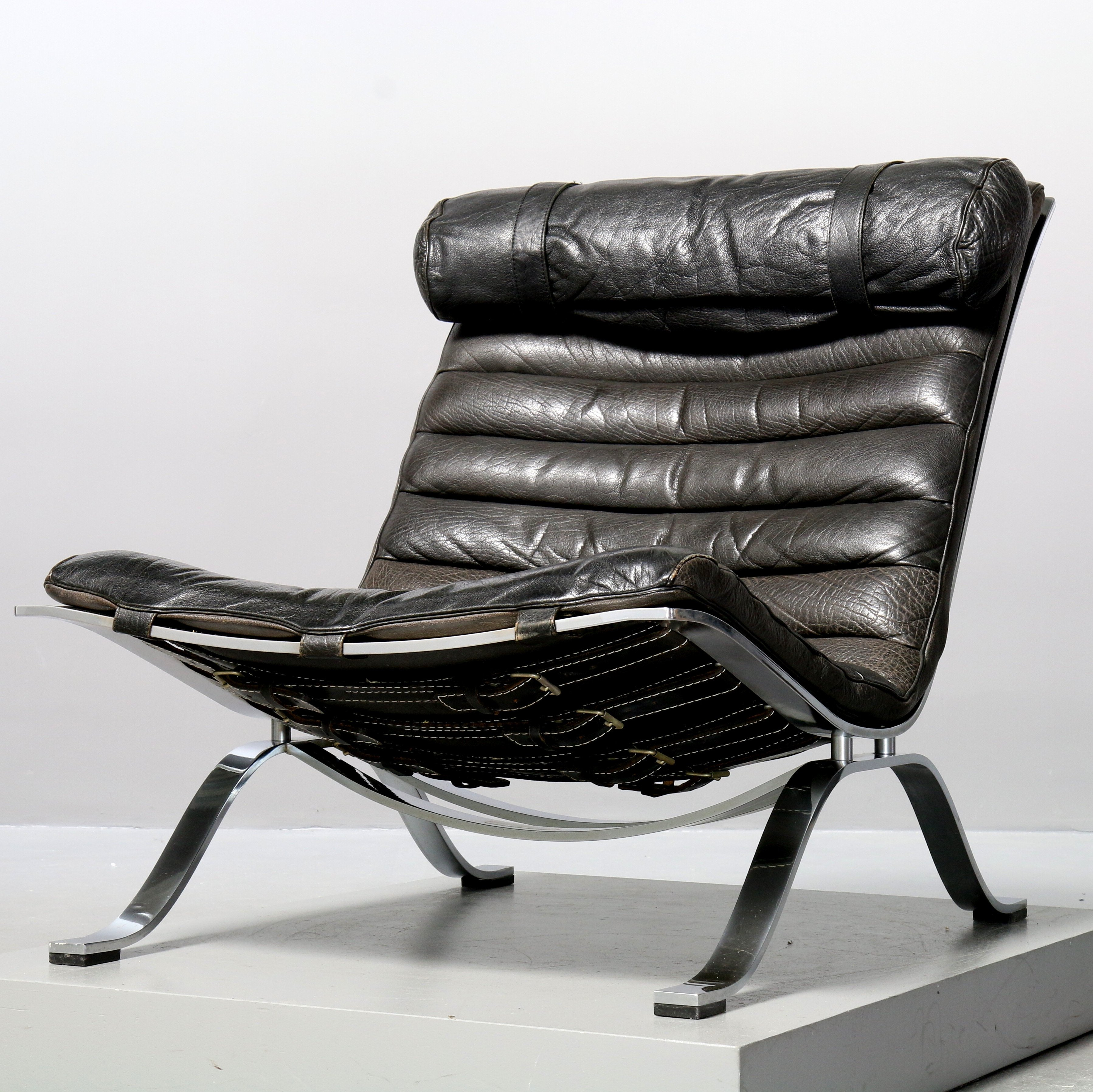 Replica Möbel Legal Black Leather 'ari' Lounge Chair By Arne Norell For Aneby Möbel Ab, Sweden 1980s | #122349