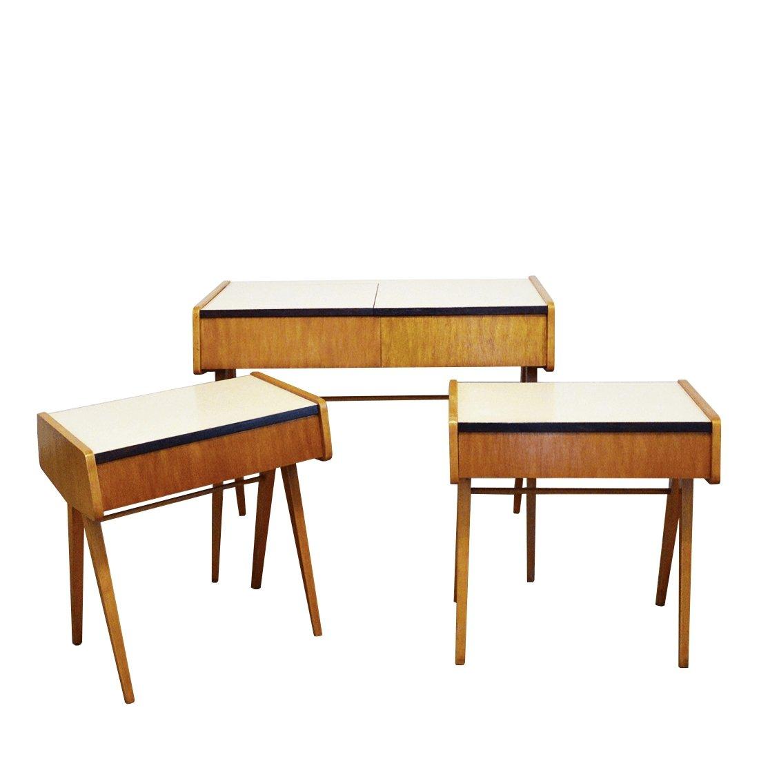 Set Of 3 Bedroom Side Tables By Frantisek Jirak 126533