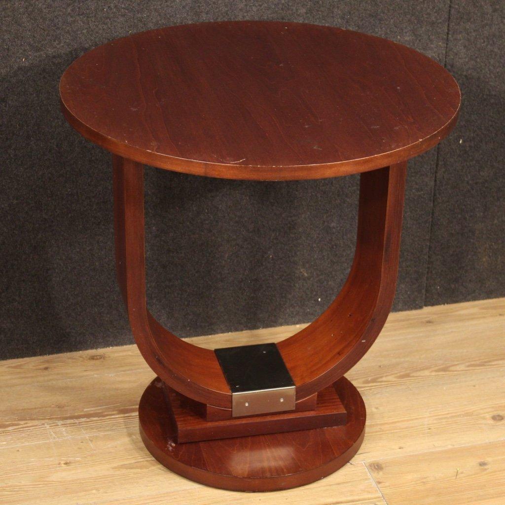 20th century mahogany fruitwood italian design coffee table 1970