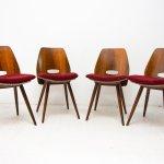 Set Of 4 Mid Century Dining Chairs By Frantisek Jirak For Tatra Pravenec 133738