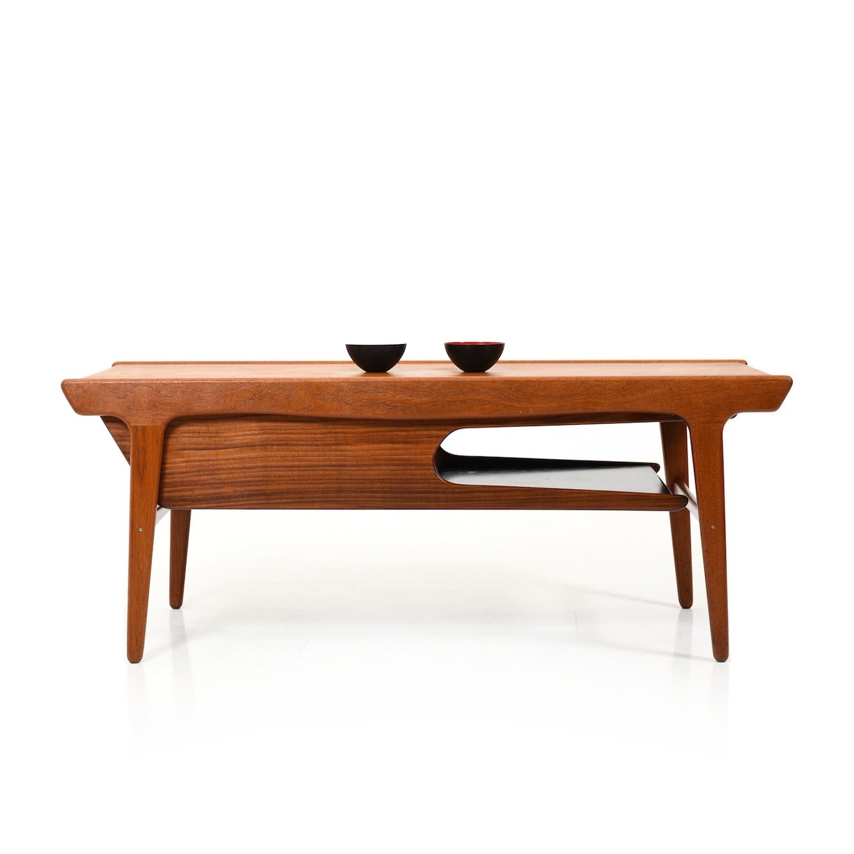 Rare Mid Century Danish Teak Sofa Table With Formica Inlays 134187