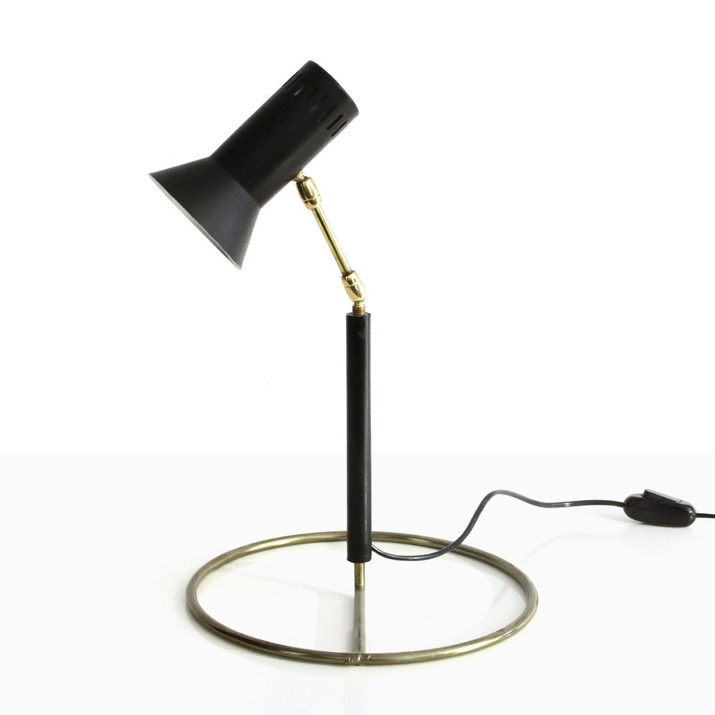 Table Lamp With Brass Base 1960s 145405