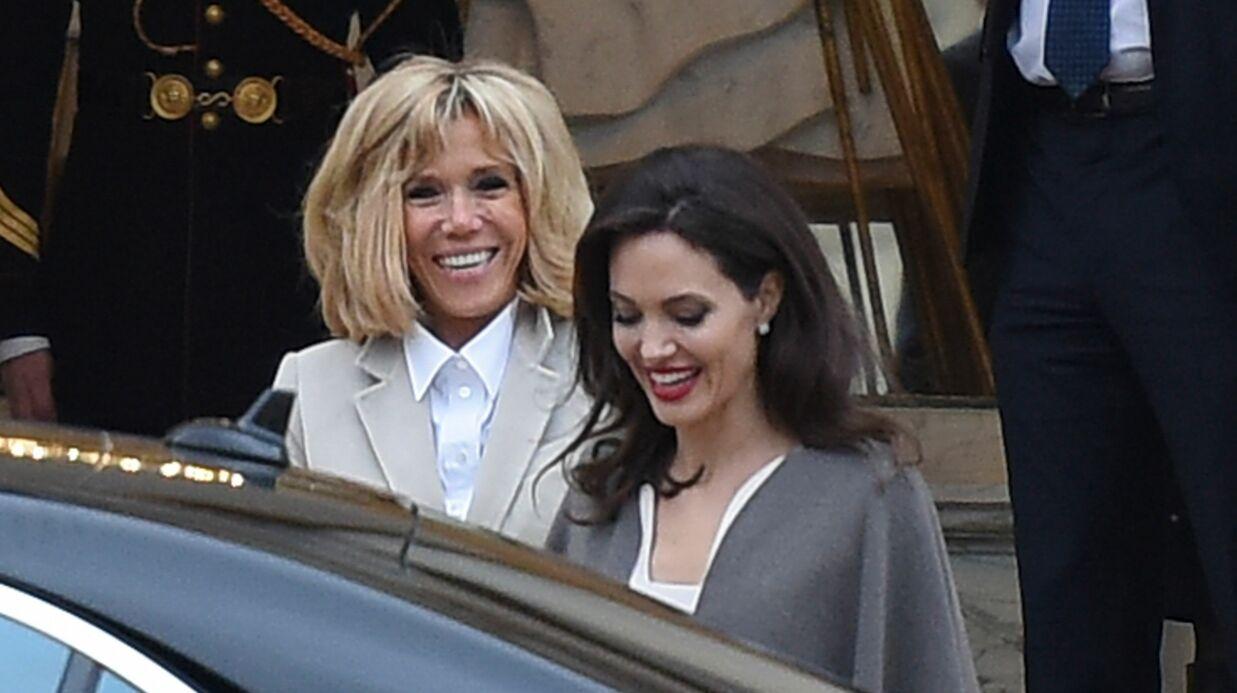 Voilà pourquoi Brigitte Macron a reçu Angelina Jolie, hier, à l'Elysée