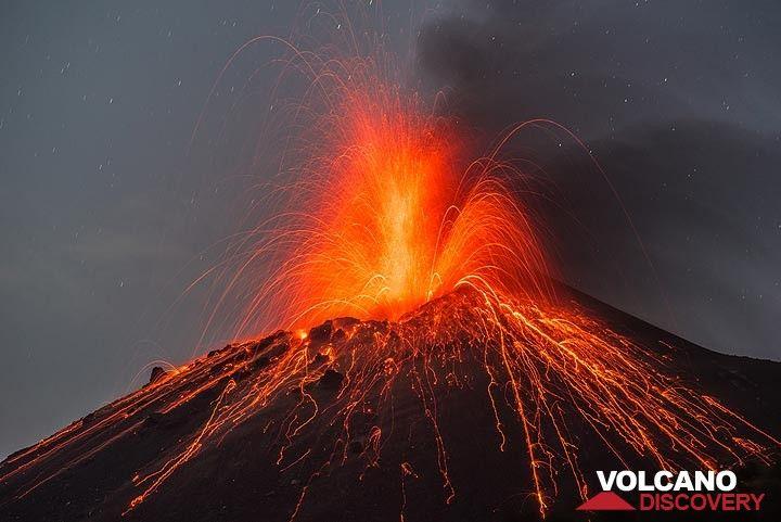 Krakatau volcano. Indonesia: eruption Oct 2018 / VolcanoDiscovery