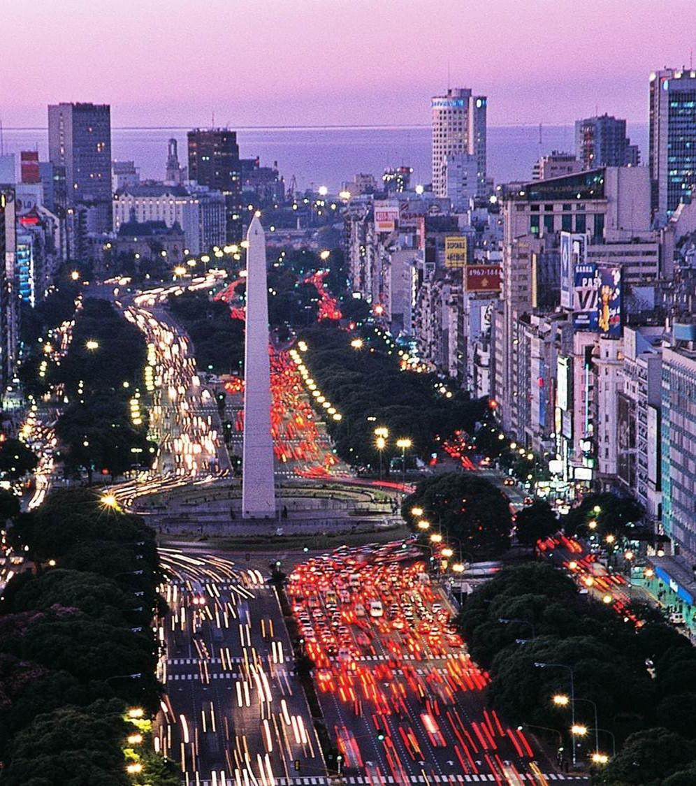 9 Large La Monde La Julio Plus Aires Argentine Buenos Du De Route