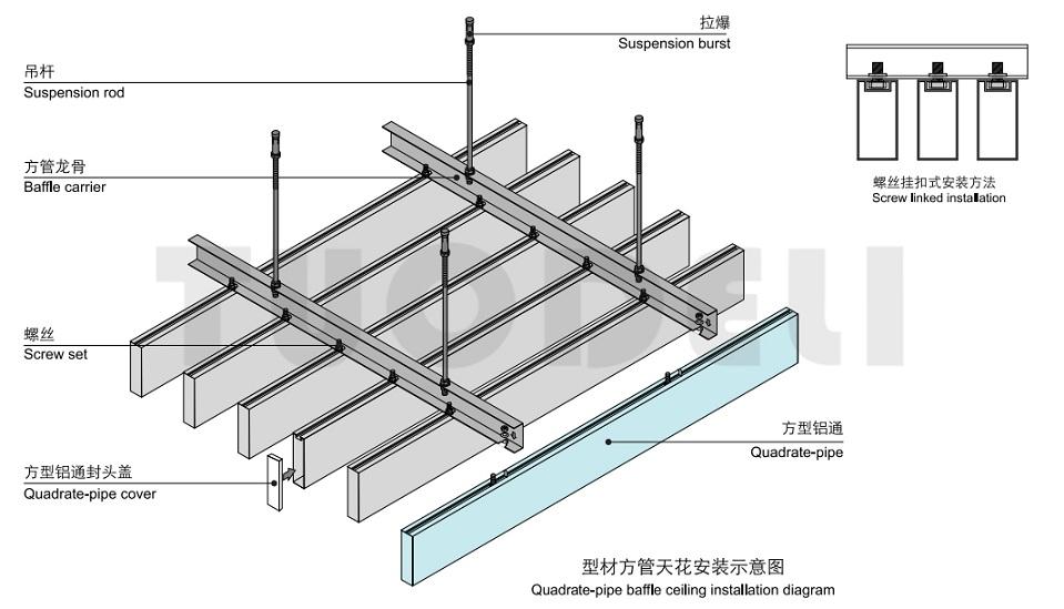 Techo deflector de aluminio