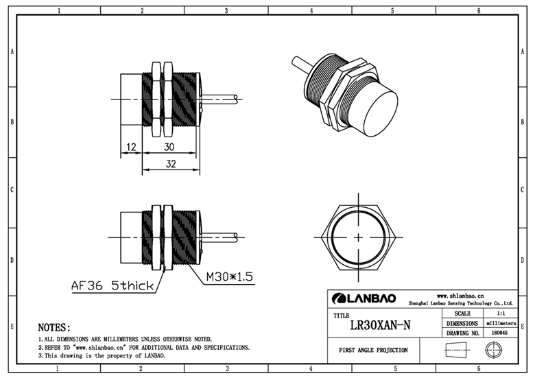 Supply M30 DC 10mm NAMUR proximity sensors metal detection