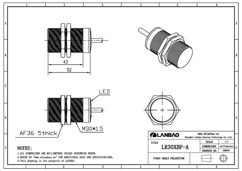 Supply LANBAO m30 Approach Sensor Inductive Proximity