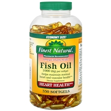 Fish Oil 1000 mg Dietary Supplement Softgels