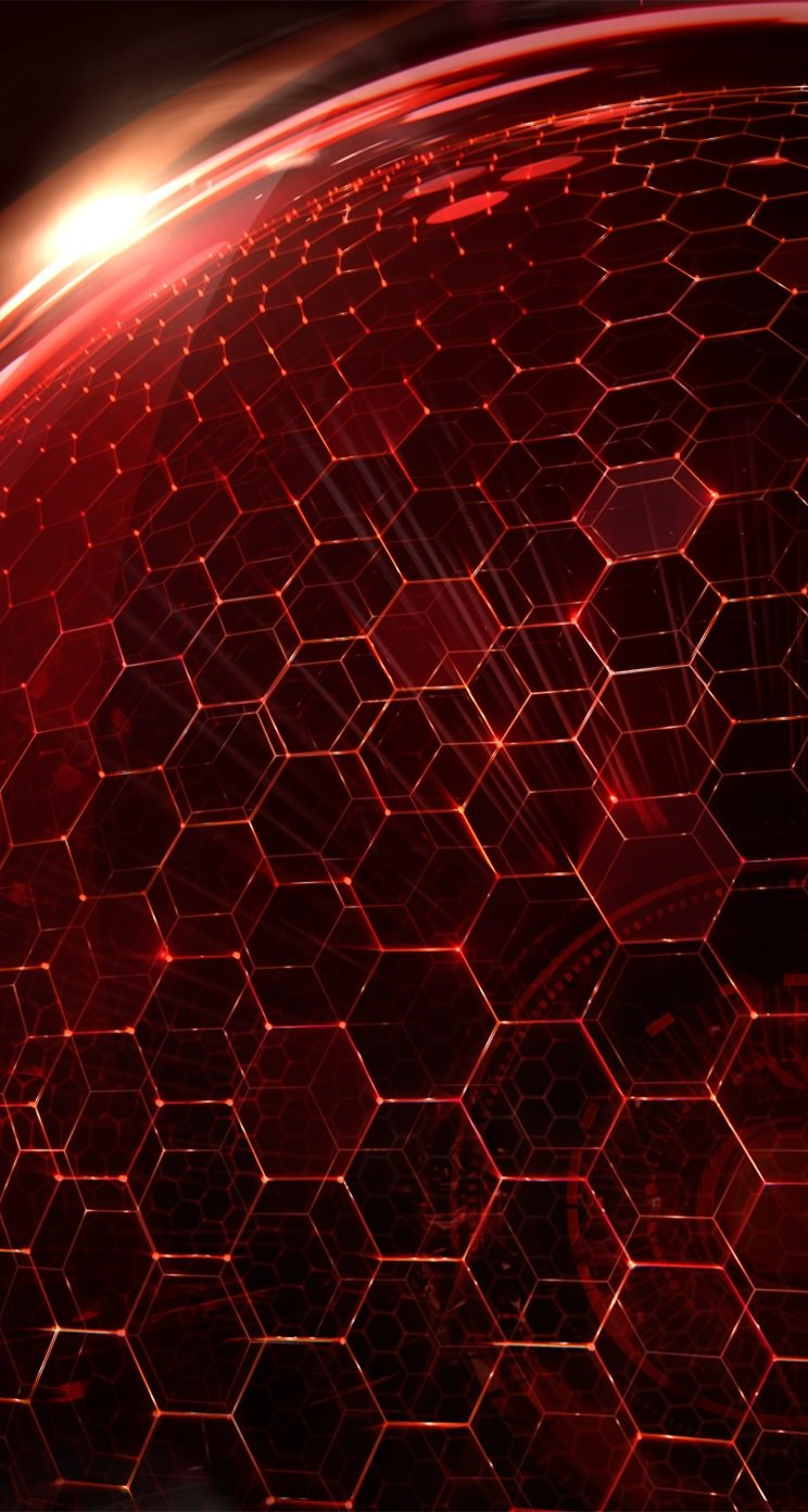 Iphone Se Wallpaper Size Honeycomb Pattern Red Wallpaper Sc Iphone5s Se