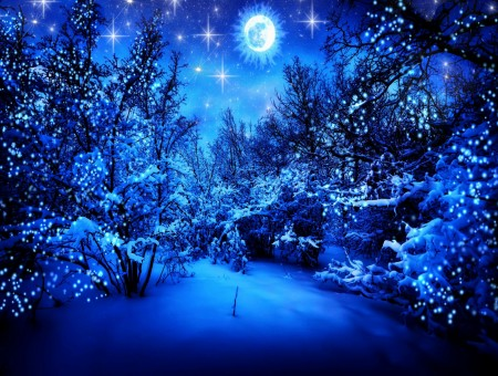 Falling Stars Gif Wallpaper Sparkling Snow At Night Graphic Wallpapers Every Day