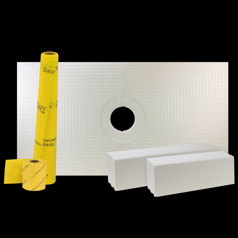 pro gen ii 32 x 60 tile waterproofing shower pan kit with center drain hole