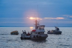 Commercial fishing boats in Bristol Bay near Naknek. July 6, 2007 (flickr / echoforsberg)