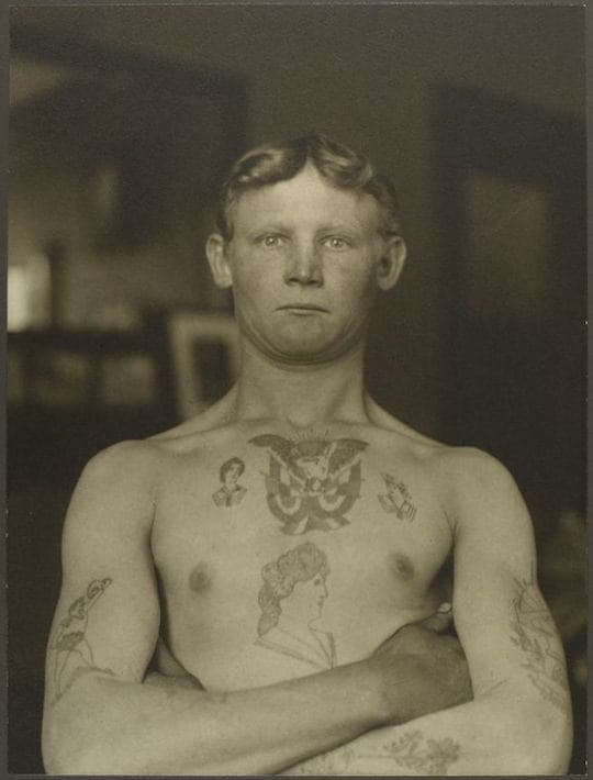 A German stowaway. Portraits from Ellis Island, Augustus Sherman.