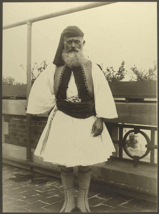 A Greek soldier. Portraits from Ellis Island, Augustus Sherman.