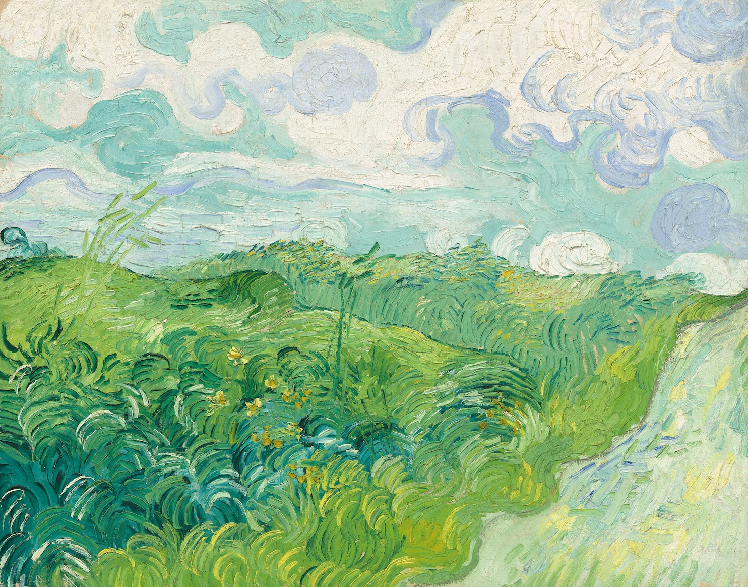 Green Wheat Fields by Van Gogh