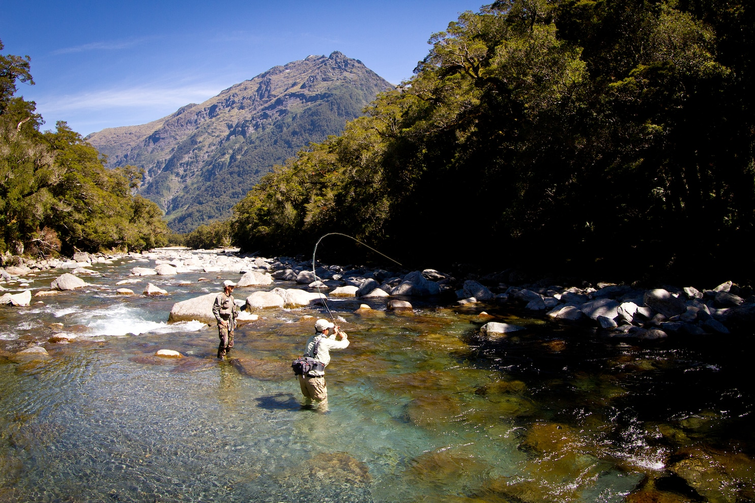 Fall Mountain Scenes Wallpaper Fly Fishing In New Zealand Emphasis On The Fly The