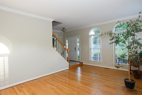laminate flooring sunken living room tv placement in small with fireplace house calls decorating a the washington post