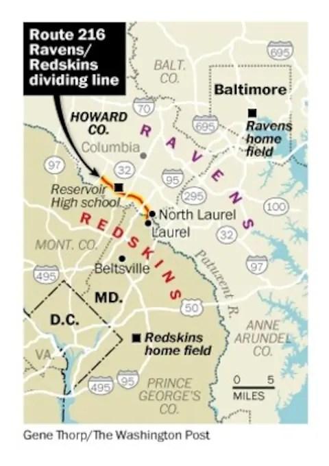 Redskin Stadium Map : redskin, stadium, Baltimore, Ravens,, Washington, Redskins, Fans:, Where, Line?
