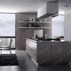 Gray Kitchen Island Booth Plans 灰色厨房装修效果怎么样 维意定制家具商城