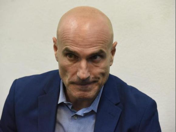 """בכיר במערכת המשפט במהלך הארכת מעצרו בבית משפט השלום, ת""""א 16 בינואר 2019 (ראובן קסטרו)"""
