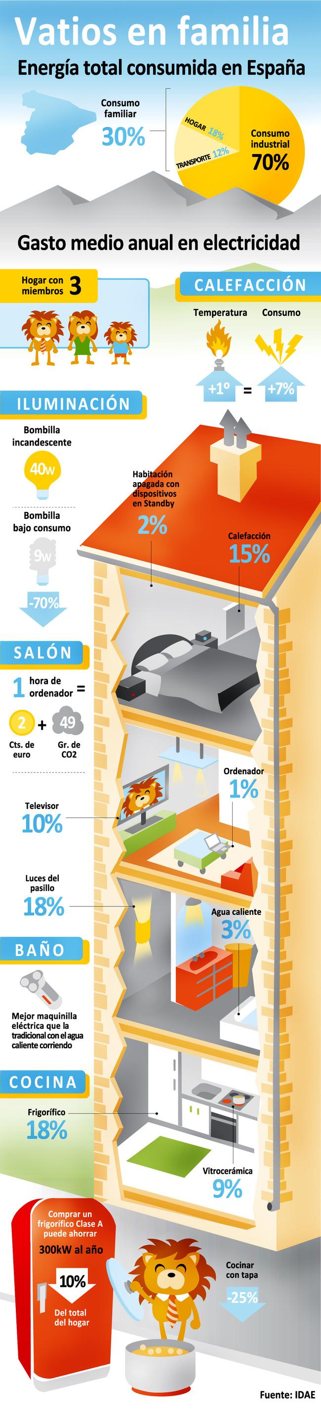 Consumo doméstico de la energía