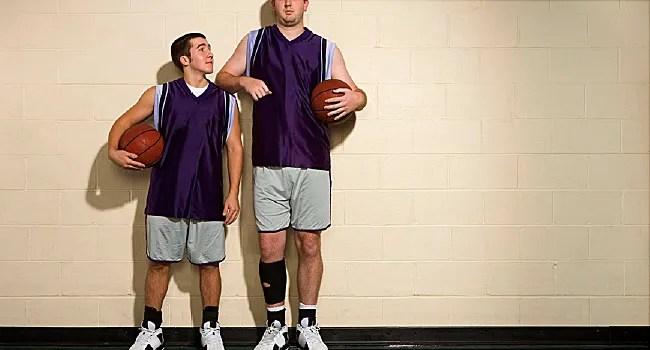 short man and tall man