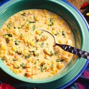 Sweet Corn Vegetable Chowder Recipe Soup Sandwich