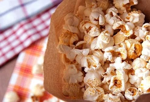 popcorn in paper bag