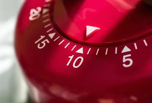 kitchen egg timer close up