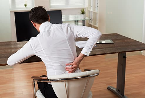 man with sore back