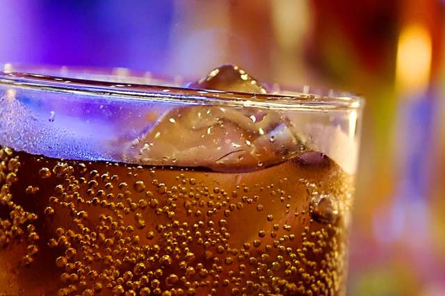 glass of cola close up
