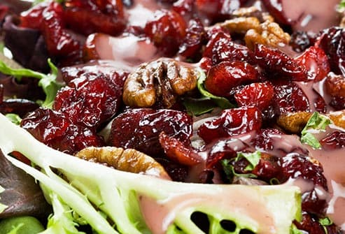 dried fruit and candied nut salad